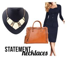"""Dressed for Success"" by selenastagg ❤ liked on Polyvore featuring statementnecklaces"
