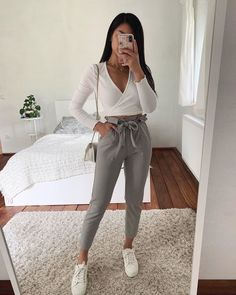 Cute Casual Outfits, Girly Outfits, Cute Summer Outfits, Retro Outfits, Simple Outfits, Stylish Outfits, Fall Outfits, Hijab Casual, Ootd Hijab