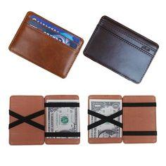 Item Type: Wallet Interior: Magic Money Clip Item Width: 7cm Item Height: 0.5 cm Gender: Men Pattern Type: Solid Style: Fashion Wallet Length: Short Item Length: 10 cm Item Weight: 45g Wallets: Mini W