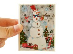 Snowman Wood Wall Plaque by Walter Silva on Etsy, $10.00