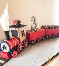 A choo choo train cake for my nephew's 3rd birthday! Chocolate cake with ganache and whole mini oreos! Mini Oreos, Chocolate Ganache Cake, Choo Choo Train, Cookie Jars, 3rd Birthday, Cakes, 3 Year Olds, Cake Makers, Kuchen