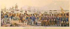 Portuguese Civil war - Liberal Army landing near Porto - 1832