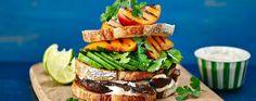 Celebrate British Sandwich Week with the ultimate club sandwich: Peach, portobello & avocado club