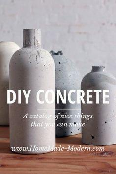 Hege in France: Concrete vase DIY