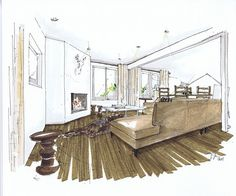 Grab fresh High Resolution Interior Design Rendering Drawing Interior Rendering Design design ideas from Susan Wilson to improve your home. Interior Design Renderings, Drawing Interior, Interior Rendering, Interior Sketch, Interior Architecture, Interior Doors, Rendering Drawing, Environment Sketch, Rendering Techniques