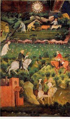 """Settembre ~ Il """"Ciclo dei mesi"""" ~ 15 ° secolo ~ di Torre Aquila del Castello del Buonconsiglio a Trento ~ attribuita al boemo maestro Venceslao ~"""