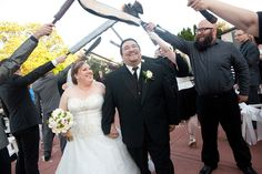 Celebrate your geeky love with a LARPers' sword arch!