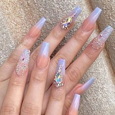 Most Fashionable Acrylic Coffin Nails Art Designs To Inspire You 2019 - Nail Art Halloween Acrylic Nails, Best Acrylic Nails, Acrylic Nail Designs, Nail Art Designs, Nails Design, Acrylic Nails Coffin Glitter, Acrylic Art, Glam Nails, Bling Nails