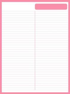[굿노트/속지/세로] 굿노트 파스텔 라인노트2 - 여러가지색 총집합_Pink : 네이버 블로그