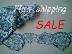 50% SALE 5m Blue & White Insert Stretch Lace Galoon for | Etsy Stretch Lace, Top Free, Flower Designs, 50th, Stretches, Crochet Necklace, Blue And White, Lingerie, Free Shipping