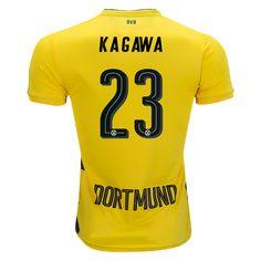 17/18 PUMA Shinji Kagawa #23 Borussia Dortmund Home Jersey