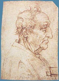 Leonardo Da Vinci Head of an Old Man in Profile, c.1485-1490 Head of an Old Man in Profile, c.1485-1490 Detail