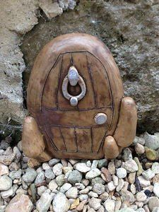 SMALL HOBBIT DOOR IDEAL FOR GARDENS AND BOTTOM OF TREES - LET YOUR SECRET FRIENDS IN The Magical Doorway http://www.amazon.co.uk/dp/B0051HH5IM/ref=cm_sw_r_pi_dp_43bZtb1FJXBK4DA5