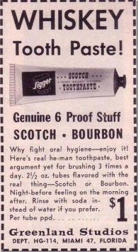 Whiskey toothpaste