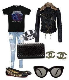 """""""Trash Couture"""" by hello-kori-xo ❤ liked on Polyvore featuring Boohoo, Christian Louboutin, Burberry, Victoria Beckham, Chanel and Givenchy"""