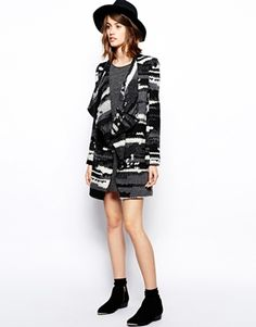Enlarge BA&SH Ixia Patch Coat in Textured Wool with Belt