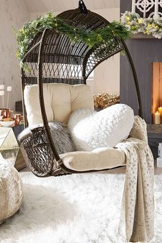 24 Cozy Rattan Hanging Chair Design Ideas You Must Have #AccentChair