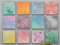 Huge abstract Painting 12 square CUSTOM Abstract by TwistOfUnique, $720.00