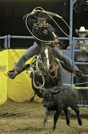 TREVOR BRAZILLE!! He is not even on his horse at this point!!!!