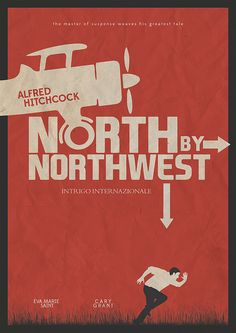 North by Nortwest - Alfred Hitchcock Alternative Movie Poster