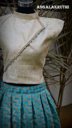 Skirt And Crop Top Indian Party Wear 19 Super Ideas Lehenga Designs, Kurta Designs, Saree Blouse Designs, Dress Designs, Indian Party Wear, Indian Wear, Indian Dresses, Indian Outfits, Crop Top Designs