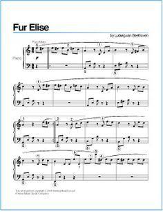 Fur Elise (Beethoven)   Free Printable Sheet Music for Piano