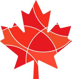 Red Abstract maple leaf design