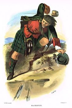 "Clans & Tartans of Scotland by McIan - ""MACKENZIE"" - Lithograph -1988"