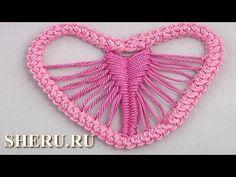 Needle Lace  Heart Romanian Lace Урок 91 Сердечко в румынской технике