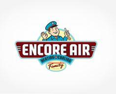 Encore Air Heating & Cooling - Logo design for Encore Air Heating & Cooling, an hvac company based in Largo, FL.