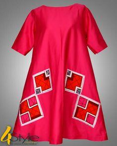 Pink african dress