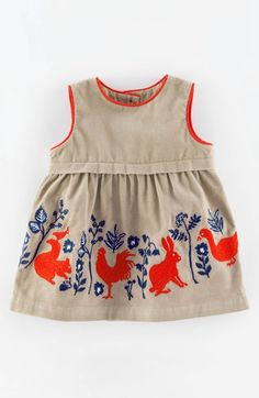 Free shipping and returns on Mini Boden 'Pinnie' Appliqué Corduroy Pinafore Dress (Baby Girls) at Nordstrom.com. Adorable appliquéd animals march across a delightful pinafore dress made from soft cotton corduroy.