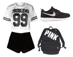 """""""Geen titel #8"""" by talitha-van-raemdonck on Polyvore featuring mode, Andrew Gn, NIKE en Victoria's Secret"""