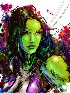 """She Hulk by ~VVernacatola on deviantART  ✮✮""""Feel free to share on Pinterest"""" ♥ღ www.UNOCOLLECTIBLES.COM"""