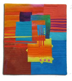 fused sample for QAWM by Melody Johnson Quilts