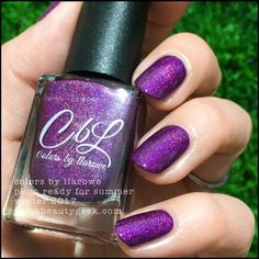 Colors by Llarowe Plum Ready for Summer – Winter 2017 Plum Nail Polish, Plum Nails, Summer Winter, Winter 2017, Plum Color, Shades Of Purple, Frost, Swatch, Nail Designs