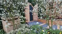The Secret Door  A secret door for the home or garden opening to reveal a children's blackboard. This is one we created for the RHS Flower Show Cardiff 2015 show garden Nurture in Nature.