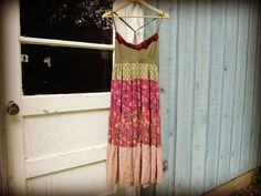 Eco Chic Bohemian Sundress// Large//  Upcycled by emmevielle, $65.00