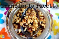 Sweet, homemade granola: una ricetta per farla in casa Granola, Muesli, Oats Recipes, Healthy Recipes, 21 Day Fix Diet, Nutrition Tips, Biscotti, Clean Eating, Appetizers