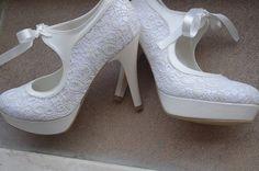 Lace Bridal Wedding shoes
