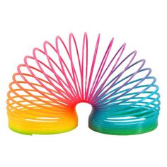 Slinky table decoration. Available from www.80smaterialgirl.co.uk. 80s Party decorations.