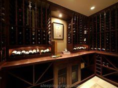 Wine Cellar of Subtle Curves, 750+ bottle wine cellar