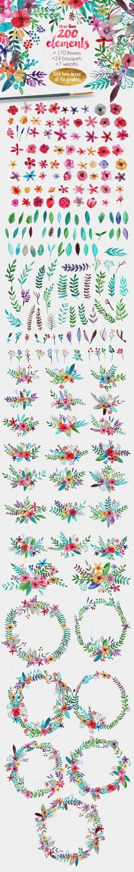 Flowertopia by Mia Charro on /creativemarket/