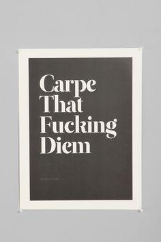 Wordboner Carpe Art Print
