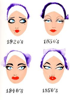 Vintage Makeup even if make up only changed a bit over the years doesn't mean it hasn't made a… - 1920 Makeup, Great Gatsby Makeup, Vintage Makeup, Vintage Beauty, Makeup Ads, Makeup Inspo, Makeup Inspiration, Beauty Makeup, Hair Makeup
