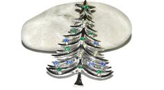 Tancer II Christmas tree brooch pin  holiday от BellaLindaBoutique
