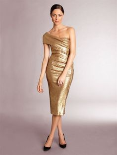 White and Gold Wedding. Mother of the Bride. Mother of the Groom. Dress or Suit With Jacket. Donna Karan's Modern Icons Gold Sequin Cocktail Dress.... Absolutely need it.