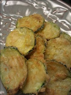 Baked Zucchini Chips - gluten free, low carb, low fat