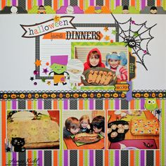 Doodlebug Design Inc Blog: Introducing 2014 Design Team Member Aimee Kidd, Halloween Parade Layout