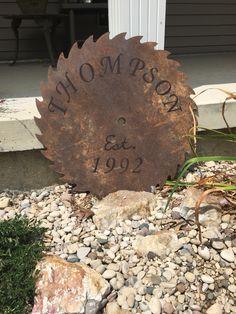 Repurposed old saw blade